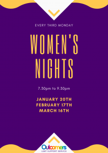 Women's nights, 7.30 to 9.30pm,